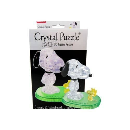 3D Snoopy/Woodstock Crystal Puzzle