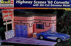 Revell Monogram 1/25 Highway Scenes 1960 Corvette Plastic Model Kit (Vintage)