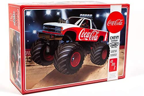 R2AMT1184 AMT 1988 Chevy Silverado Monster Truck (Coca-Cola) 1:25 Scale Model Kit