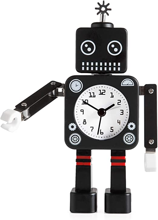 Robo Alarm Clock Black