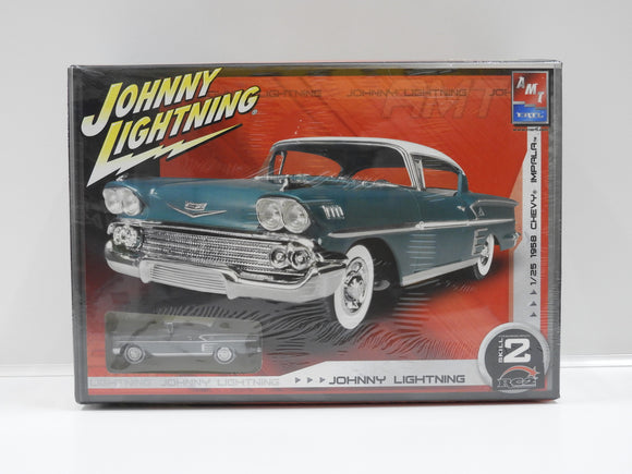 AMT 1/25 1958 Chevy Impala Johnny Lightning Plastic Model Kit  (Vintage)
