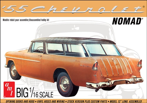AMT1005 1/16 1955 Chevy Nomad Wagon Plastic Model Kit