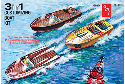 1/25 Customizing Boat (3-in-1) Plastic Kit