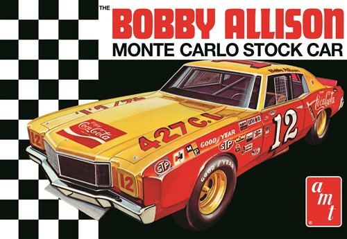 AMT1064 Bobby Allison 1972 Chevy Monte Carlo Stock Car Plastic Model Kit