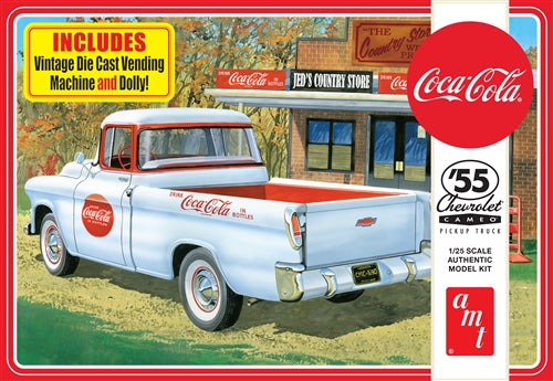 AMT1094 1955 Chevy Cameo Pickup (Coca-Cola) Plastic Model Kit