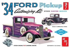 "AMT 1/25 1934 Ford Pickup Truck 3 in 1 Kit ""Trophy Series"" Plastic Model Kit"