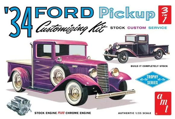 AMT 1/25 1934 Ford Pickup Truck 3 in 1 Kit