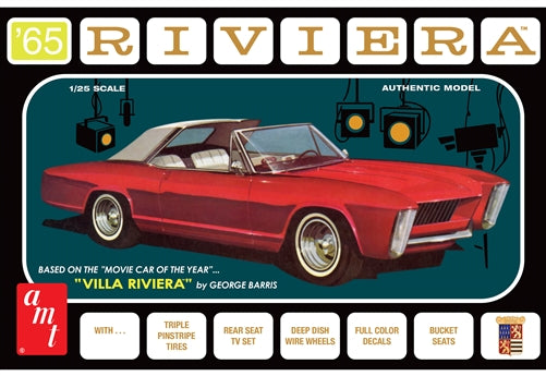 AMT1121 1965 Buick Riviera (George Barris) Plastic Model Kit