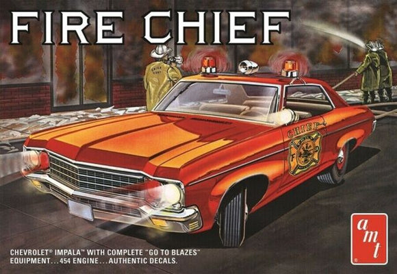 AMT 1/25 1970 Chevy Impala Fire Chief Plastic Model Kit