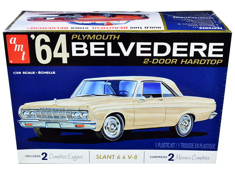 R2AMT1188 1964 Plymouth Belvedere (W/Straight) 1:25 Scale Model Kit