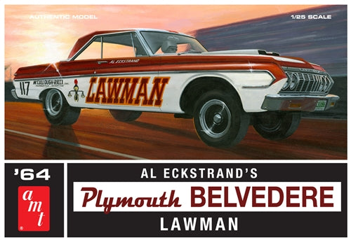 AMT986 1964 Plymouth Belvedere Lawman Super Stock Plastic Model Kit