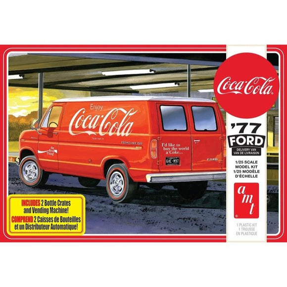 R2AMT1173 AMT 1977 Ford Van w/Vending Machine (Coca-Cola) 1:25 Scale Model Kit