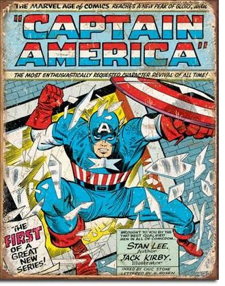 Tin Sign - Captain America Comic Cover