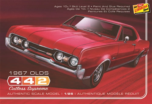 Lindberg HL127 1967 Oldsmobile 442 Plastic Model Kit
