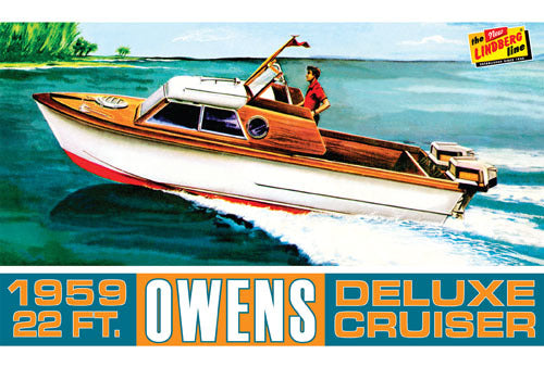 1/25 Owens Outboard Cruiser Boat Plastic Kit