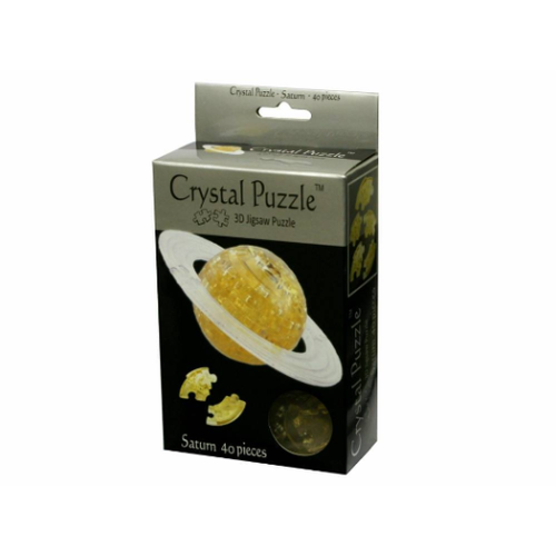 3D Golden Saturn Crystal Puzzle