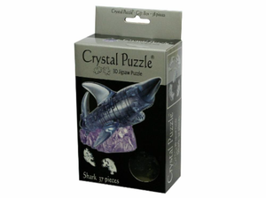 3D Black Shark Crystal Puzzle