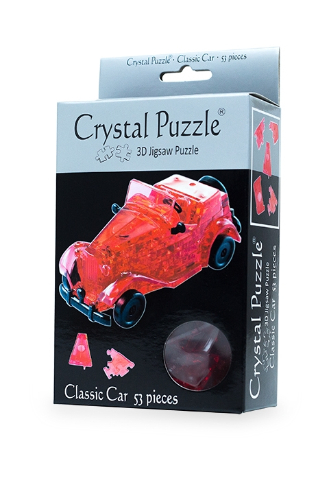 3D Red Classic Car Crystal Puzzle