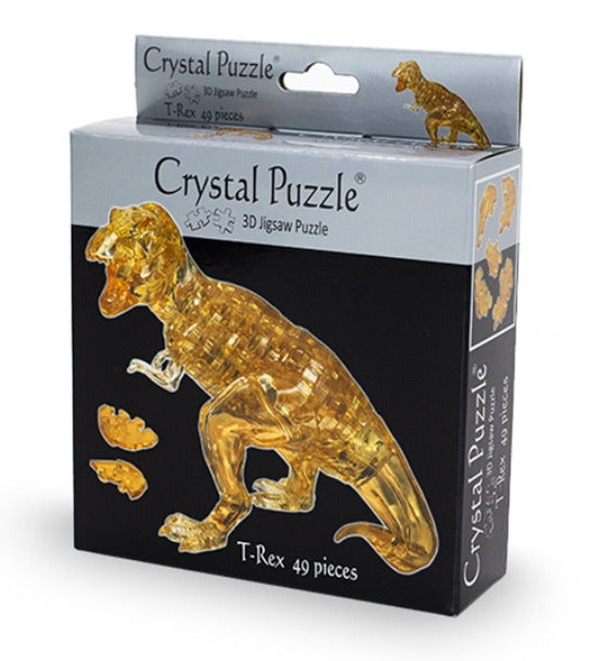 3D Brown T-Rex Crystal Puzzle