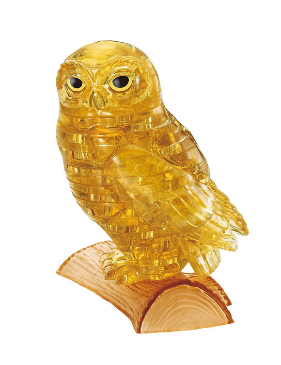 3D Gold Owl Crystal Puzzle