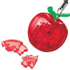 3D Mini Red Apple Crystal Puzzle