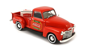 Coca-Cola 1/43 1953 Chevy Pickup with Metal Cooler