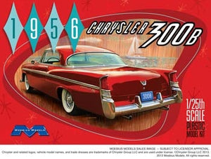 Moebius 1/25 1956 Chrysler 300B Plastic Model Kit