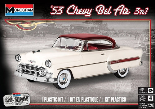 Monogram 1/24 '53 Chevy Bel Air 3 in 1 Plastic Model Kit
