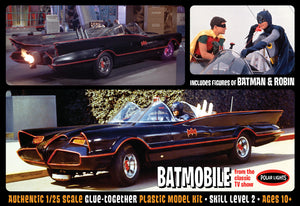 POL920 1:25 1966 Bat-mobile snap plastic kit movie