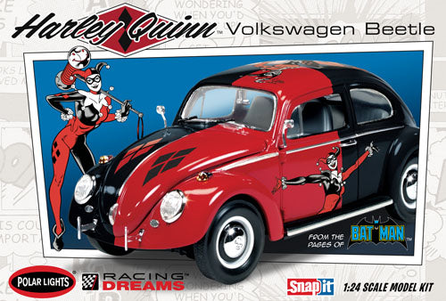 POL944 DC Comics Harley Quinn VW Bettle - Snap Plastic Model Kit