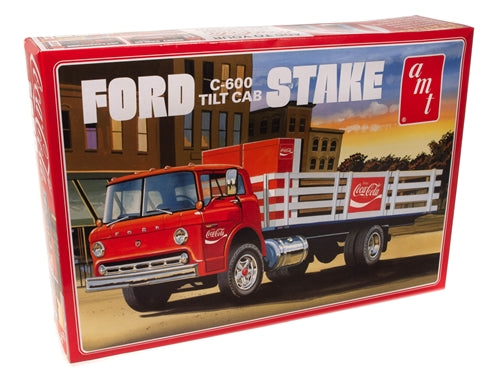 R2AMT1147 AMT Ford C600 Stake Bed w/Coca-Cola Machines 1:25 Scale Model Kit