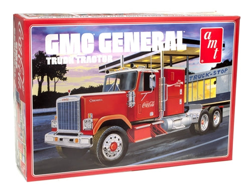 R2AMT1179 AMT 1976 GMC General Semi Tractor (Coca-Cola) 1:25 Scale Model Kit