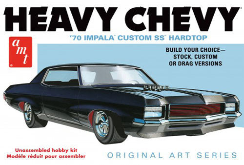 AMT895 1/25 1970 Chevy Impala - Heavy Chevy - Original Art Series Plastic Model Kit