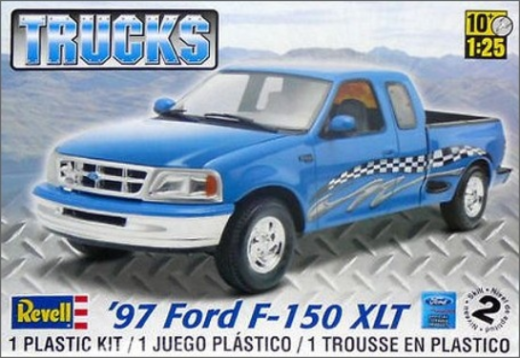 Revell 1/25 Ford F-150 XLT Pick Up Truck Plastic Model Kit