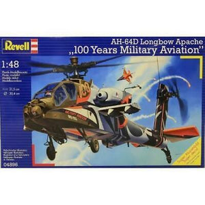 "Revell 1/48 AH-64D Apache ""100 Years of Military Aviation"" Plastic Model Kit"