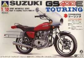 "Aoshima GS400E Touring Suzuki ""Sport Motorcycle Series"" G6-007 Plastic Model Kit"