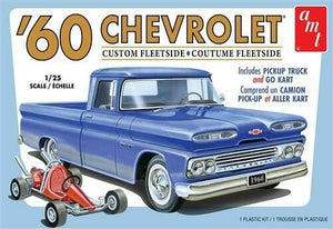 AMT 1/25 '60 Chevrolet Fleetside Pickup and Go-Kart Plastic Model Kit