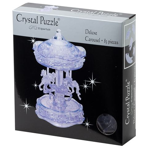 3D Clear Carousel Crystal Puzzle
