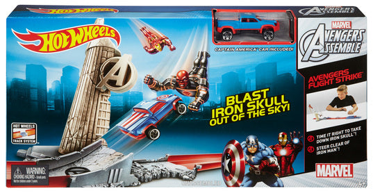 Hot Wheels Marvel Avengers Flight Strike Track Set