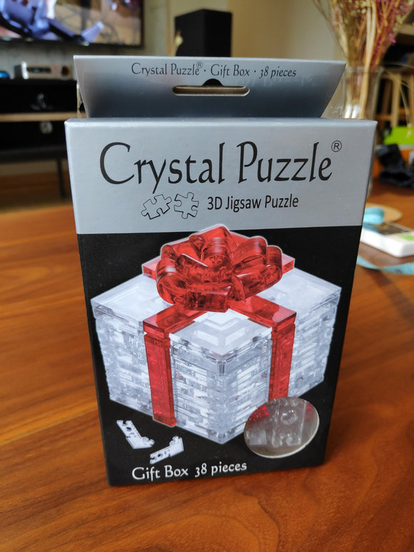 3D Red Ribbon Gift Crystal Puzzle