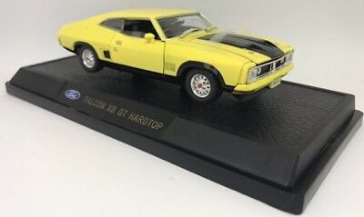 Diecast 1/32 Ford Falcon XB GT Hardtop Yellow Blaze Model Cars Collectible