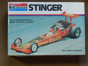 Monogram 1/24 Stinger Rear Engine Rail Dragster Plastic Model Kit (Vintage)