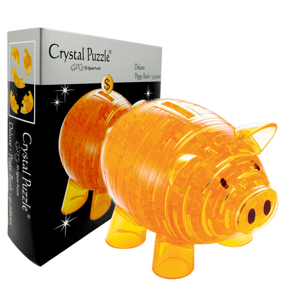 3D Crystal Puzzle Gold Piggy Bank