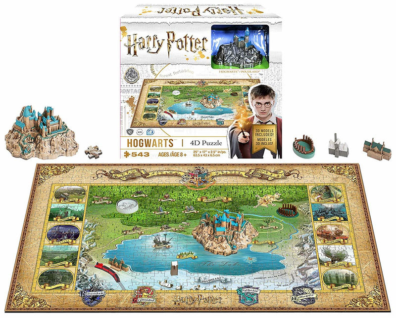 4D Harry Potter Hogwarts 543 Pieces