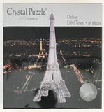 3D Black Eiffel Tower Crystal Puzzle