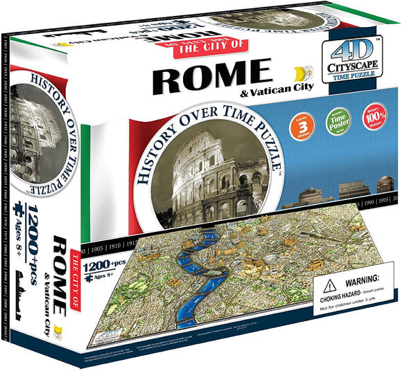 4D Cityscape: Rome 1200 Pieces