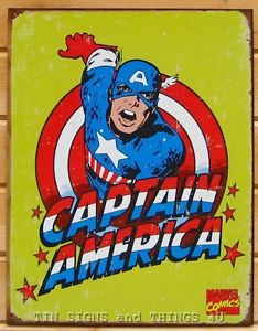 Tin Sign - Captain America Retro