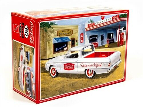 R2AMT1189 AMT 1960 Ford Ranchero w/Coke Chest (Coca-Cola) 1:25 Scale Model Kit
