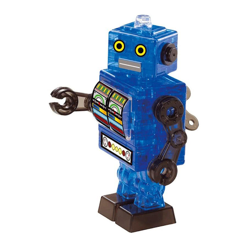 3D Blue Tin Robot Crystal Puzzle