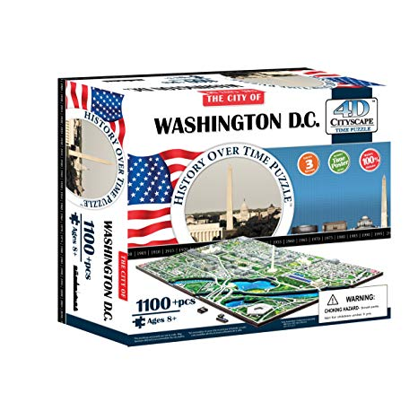 4D Cityscape: Washington D.C 1100 Pieces